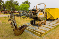 An old mini excavator for underground mining Royalty Free Stock Photography