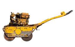 Old mini road roller for laying asphalt Royalty Free Stock Image