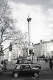 Old Mini in Trafalgar Square Stock Photography