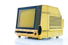 Old mini tv Stock Photography
