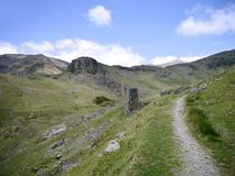Old mining area, Coppermines valley, Lake District Stock Image