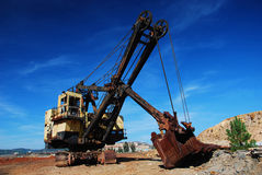 Old mining big machines backhoe - Riotinto Stock Photography