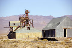 Old mining buildings Royalty Free Stock Images