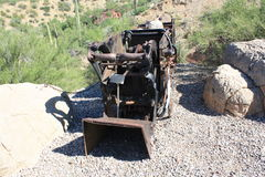 OLD MINING CART. This old mining cart is located at the Arizona Sonora Desert Museum in Tucson, Arizona Stock Photo