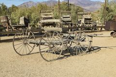 Old Mining Carts. Old Cart at Furnace Creek Death Valley Stock Photos