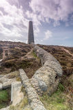 Old mining chimney near porthtowan Stock Image