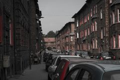 Old Mining district. Katowice Nikiszowiec Poland Royalty Free Stock Images