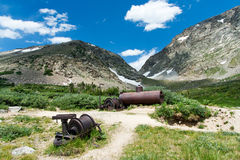 Old Mining Equipment in Colorado Royalty Free Stock Image