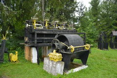Old mining equipment from the communist period in the Rosia Montana Stock Photo
