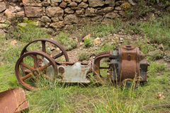 Old mining equipment at the mogollon ghost town Royalty Free Stock Photo