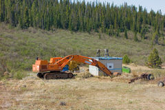 Old mining equipment at otter creek, atlin Royalty Free Stock Image