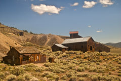 Old Mining Ghost Town. This is a view of the old mining ghost town of Berlin at the Berlin-Ichthyosaur State Park outside Reno, Nevada stock image