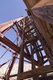 Old Mining Head Frame Ladder Royalty Free Stock Images