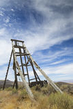 Old Mining Hoist Head Frame Royalty Free Stock Photos