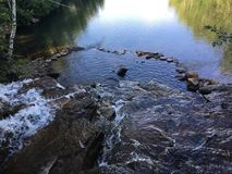 Falls. Old mining holes used for swimming Royalty Free Stock Photo