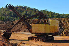 Old mining machine Royalty Free Stock Images