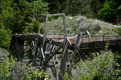 Old mining sluice Royalty Free Stock Image