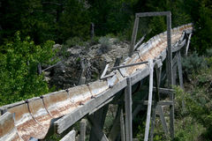 Old mining sluice Royalty Free Stock Images