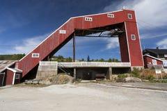 Old mining tower, Folldal Royalty Free Stock Image