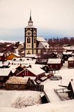 Old mining town of Roros early winter Stock Photography