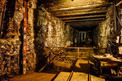 Old mining tunnel. Interior view Stock Photos