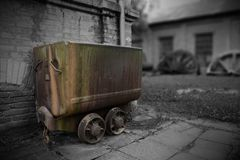 Old mining vehicles royalty free stock image