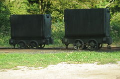 Old Mining Wagons Royalty Free Stock Photos