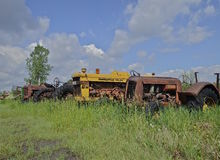 Old Minneapolis Moline tractor in junkyard Stock Image