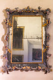Old mirror in Ducal Palace Museum in Mantua Stock Photography