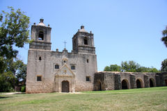 Old mission concepcion in San Antonio Royalty Free Stock Photo
