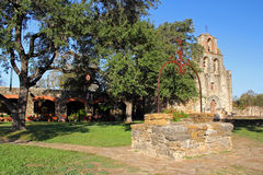 Old Mission Espada and Well Stock Photos