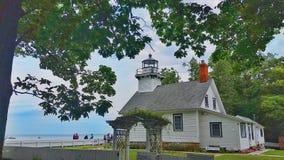 Old Mission lighthouse Traverse City Michigan stock photo