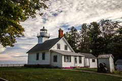 Old Mission Point Lighthouse In Michigan stock photos