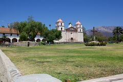 The Old Mission in Santa Barbara Royalty Free Stock Photos