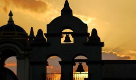 Old Mission at Sunset Royalty Free Stock Photo