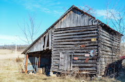 Old Missouri Barn. Last days of an old barn in a Missouri field Stock Photography