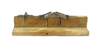 Old miter box for carpentry Royalty Free Stock Image