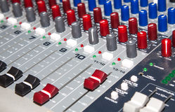 Old mixer pult Royalty Free Stock Photo