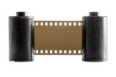 Old 35mm camera film roll Royalty Free Stock Photo
