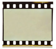 Old 35 mm film strip isolated. On white backgroung Stock Photo