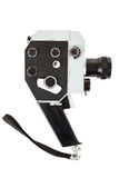 Old 8mm movie camera on white Royalty Free Stock Images