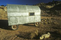 Old mobile home, UT Stock Photo