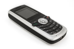 Old mobile phone over white Stock Images
