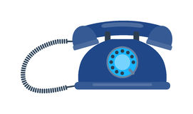 Old mobile phone retro vector illustration. Royalty Free Stock Images