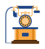 Old mobile phone retro vector illustration. Stock Photography