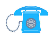 Old mobile phone retro vector illustration. Royalty Free Stock Photography