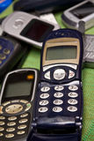 Old mobile phones Stock Image