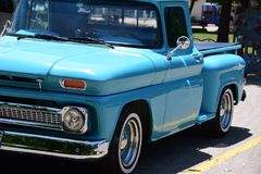 Free Old Model Blue Car View Stock Photo - 119210890