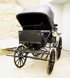 Old model of carriage. In exposition, vertical image Stock Images