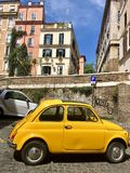 Old model of fiat in the parking at Roma royalty free stock photo